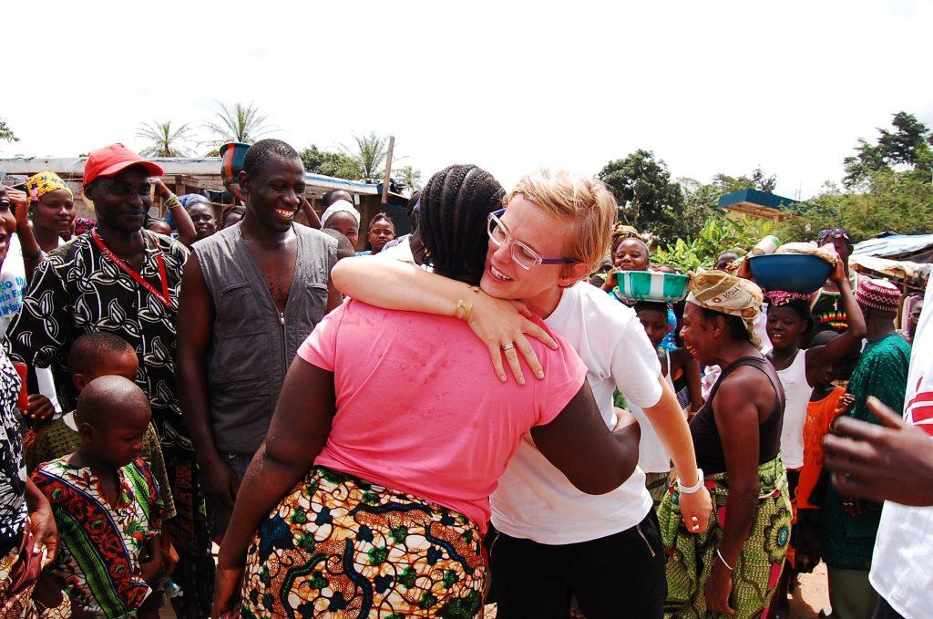 A hug for an Ebola survivor