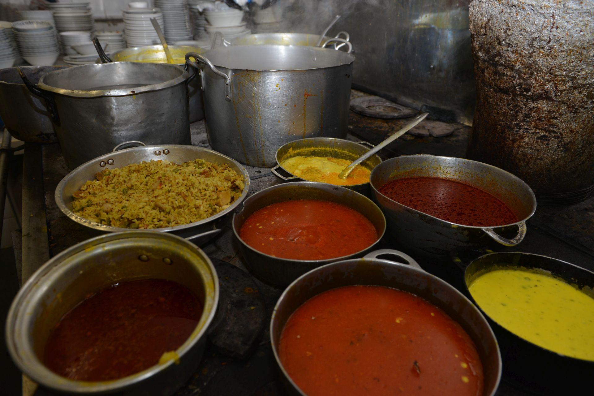 Tan variados como son los sabores, son los colores de la comida de este tradicional restaurante