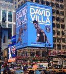 David Villa adorna Times Square. Es el nuevo fichaje de New York City F.C.