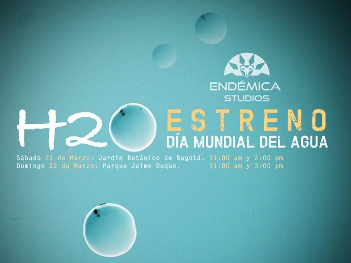 """Este 22 de marzo, Endémica Studios se une a la celebración del Día Internacional del Agua con la proyección de su cortometraje """"H2O"""""""