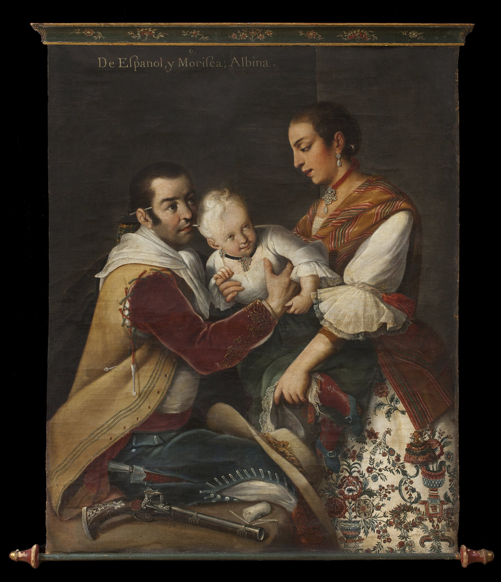 """Handout photo of The Miguel Cabrera painting, """"From Spanaird and Morisca, Albino"""""""