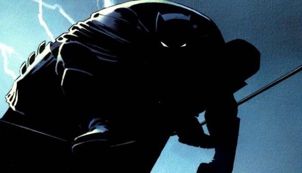 Miller dibujó un Batman oscuro y viejo.