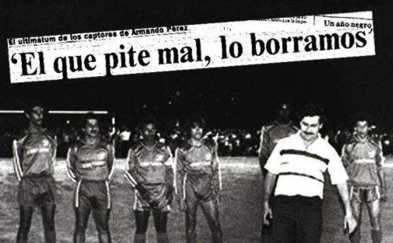 El mundo del fútbol aterrorizado por la influencia del narcotráfico.