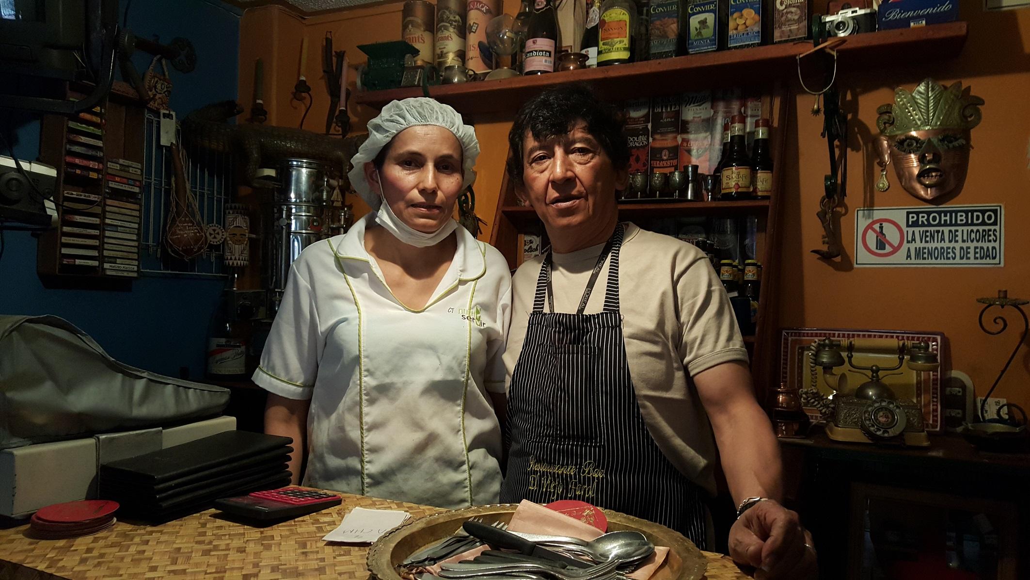 Lucila y Rodrigo, abrieron, en el primer piso de su casa, este reconocido restaurante de la localidad de Usme