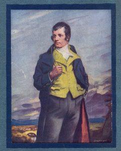 Poeta romántico escocés: he naive - I naive. Ingenuo como cualquier poeta.