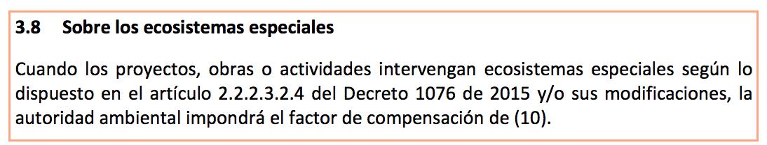 Ecosistemas especiales: Manual de compensaciones Pp 25