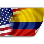 Colombia - USA flags