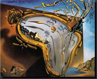 """Pintura: """"La persistencia de la memoria"""", de Salvador Dalí"""
