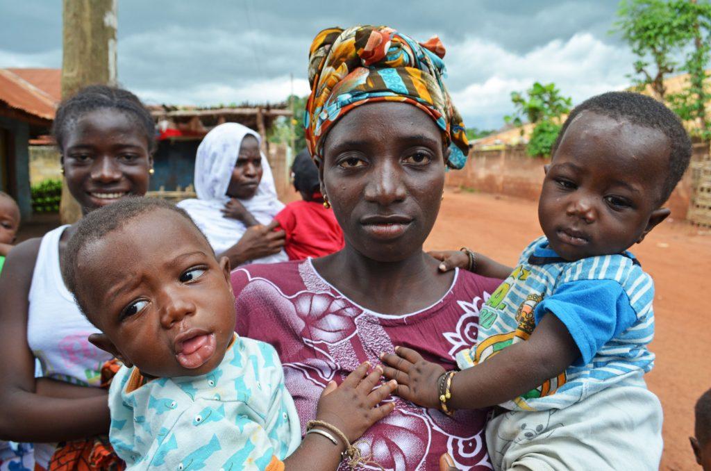 Measles vaccination in Bafata, Guinea-Bissau