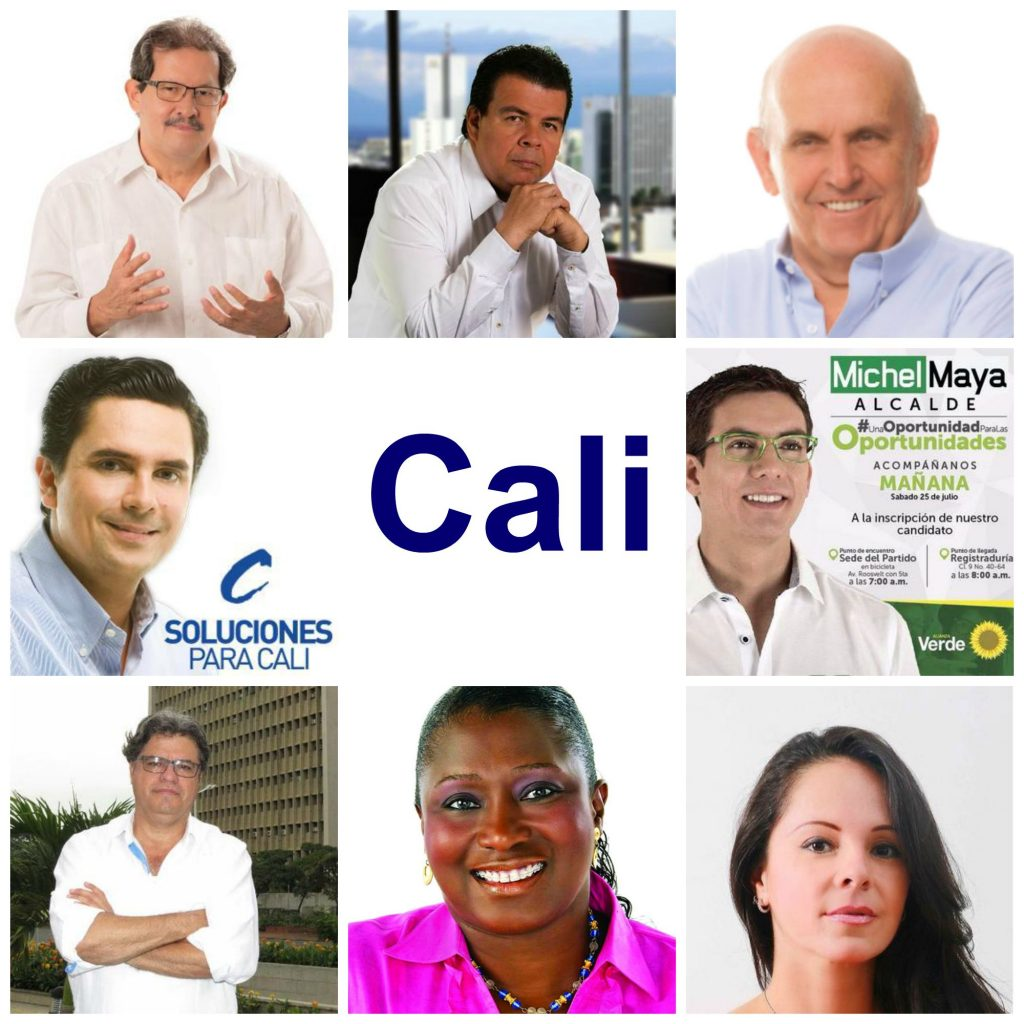 Collage Candidatos a la alcaldía de Cali 2015