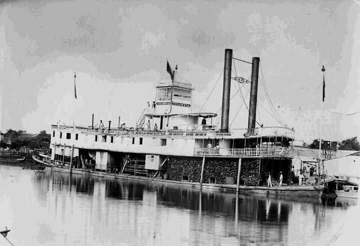 VaporMeta cruzando el Orinoco por Arauca - 1900