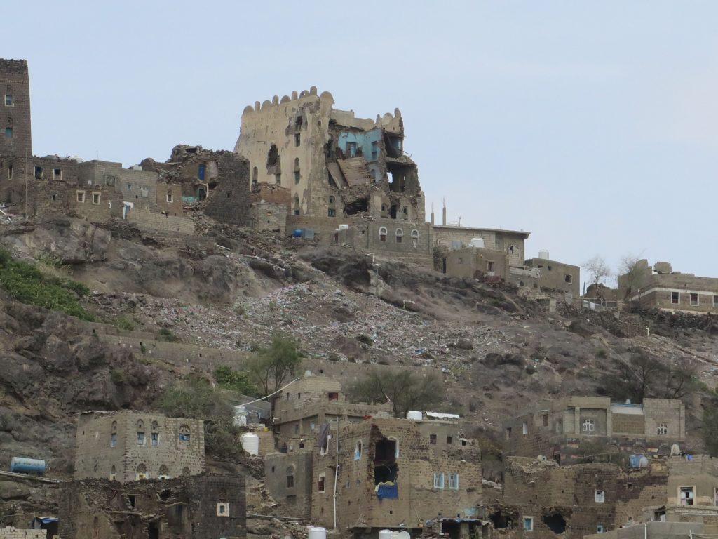Destruction in Ad Dhale - Yemen