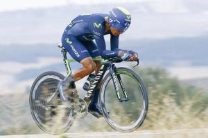 Nairo Quintana en la crono donde hizo una actuación memorable.