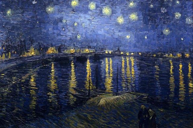 """Pintura: """"La noche estrellada sobre el Ródano"""", de Vincent Van Gogh"""