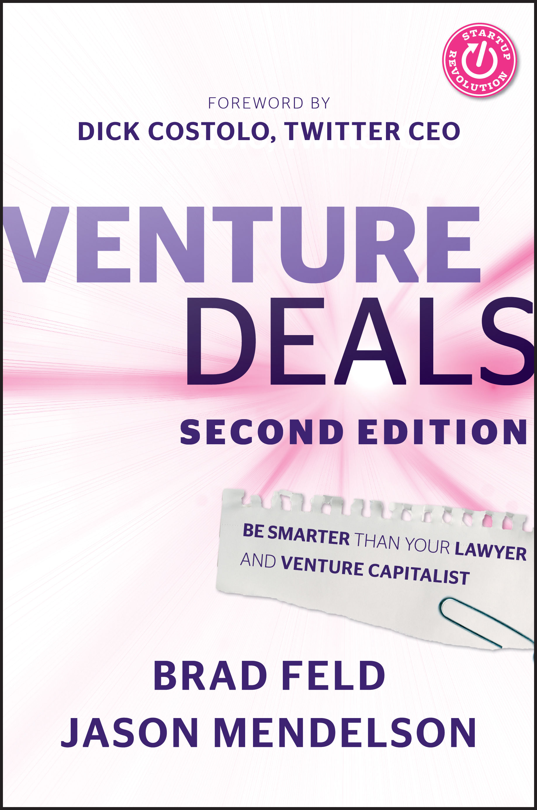 Venture Deals book cover by Brad Feld and Jason Mendelson
