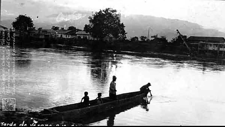 Atardecer en el río Cauca1900Erich Barth