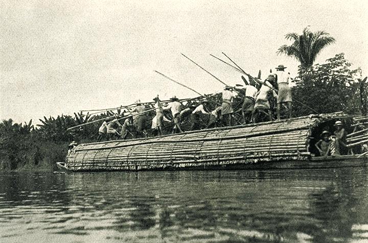 Ernest Rothlisberger Champán en el río Magdalena, ca. 1929