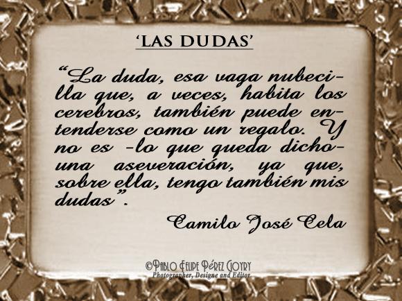 Reflexión 105_Las Dudas_Camilo José Cela