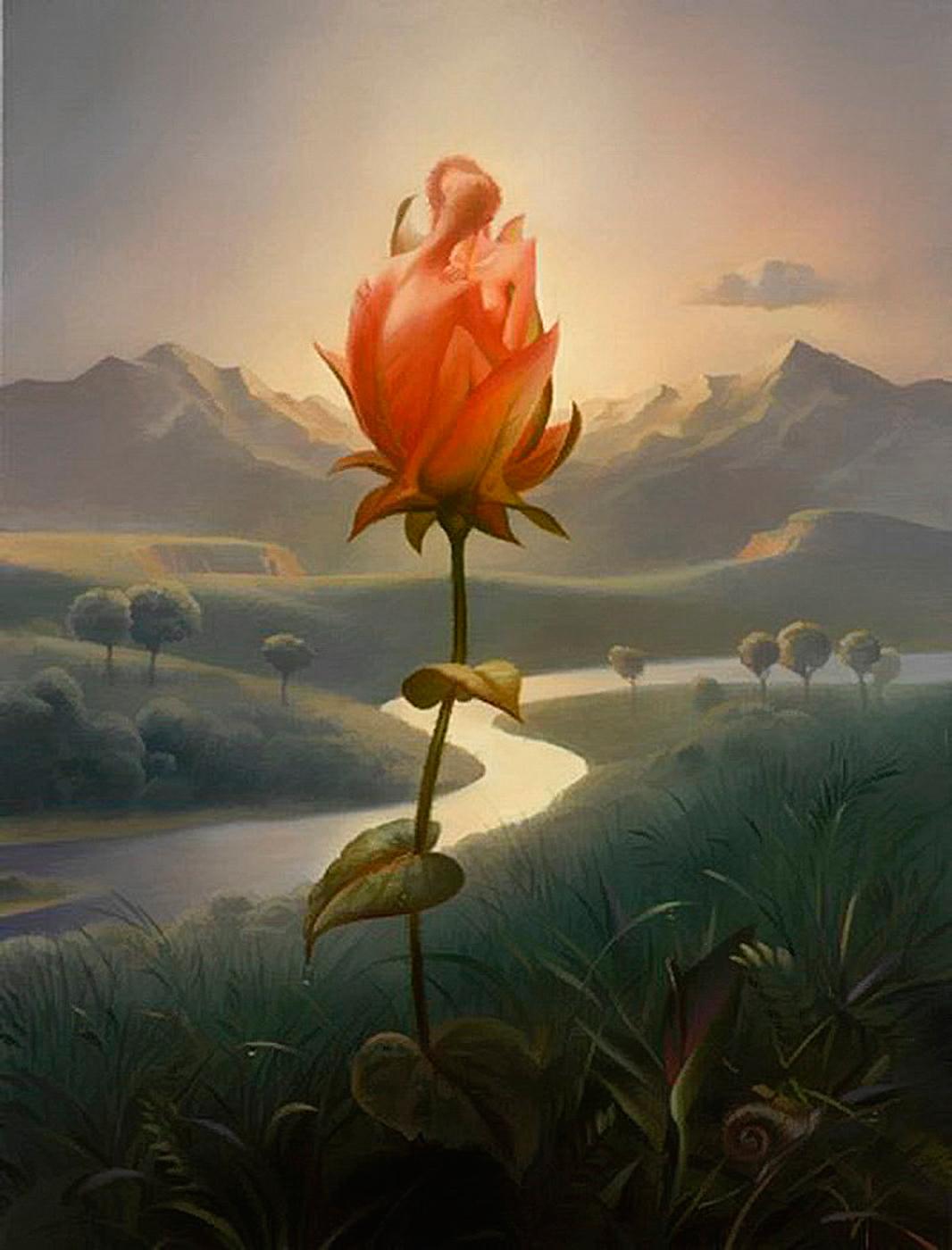 Morning Blossom - Vladimir Kush