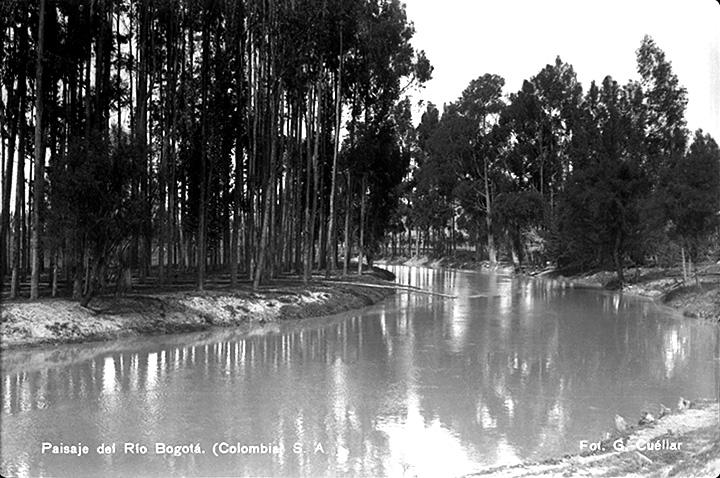 Paisaje río Bogotá (Colombia) [1930?]  Gumercindo Cuéllar Jiménez Biblioteca Luis Ángel Arango