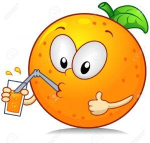 8268637-Ilustraci-n-de-un-car-cter-naranja-Drinking-algunos-jugo-mientras-dando-un-pulgares-arriba-Foto-de-archivo