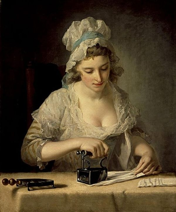 Henry Robert Morland A Laundry Maid ironing