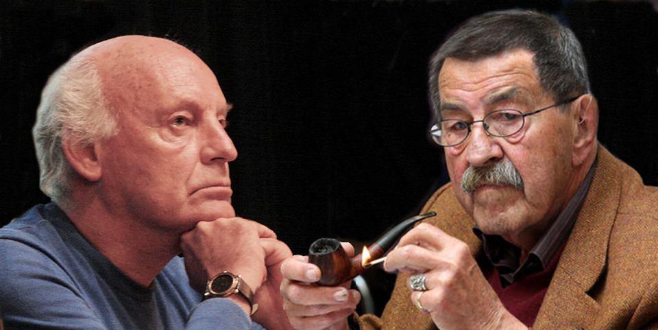 Eduardo Galeano y Gunter Grass fallecieron el 13 de abril de 2015. Fotografía tomada de http://letra.digital/actualidad/sociedad/letras-de-luto-mueren-galeano-y-gunter-grass/
