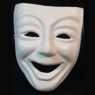 Paper Mache Unfinished Comedy & Tragedy Set