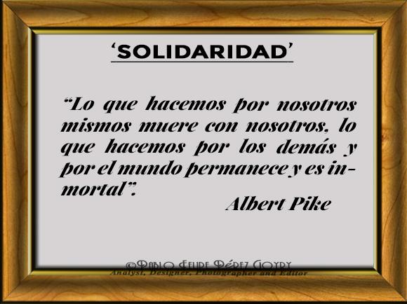 Reflexión 133_Solidaridad_ Albert Pike