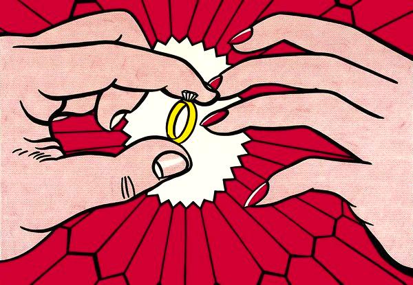 """""""The Ring (Engagement),"""" by Roy Lichtenstein, 1962."""