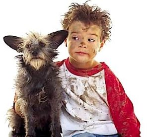children-with-dog