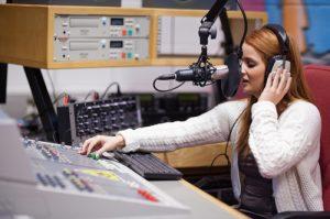 Radio host mixing