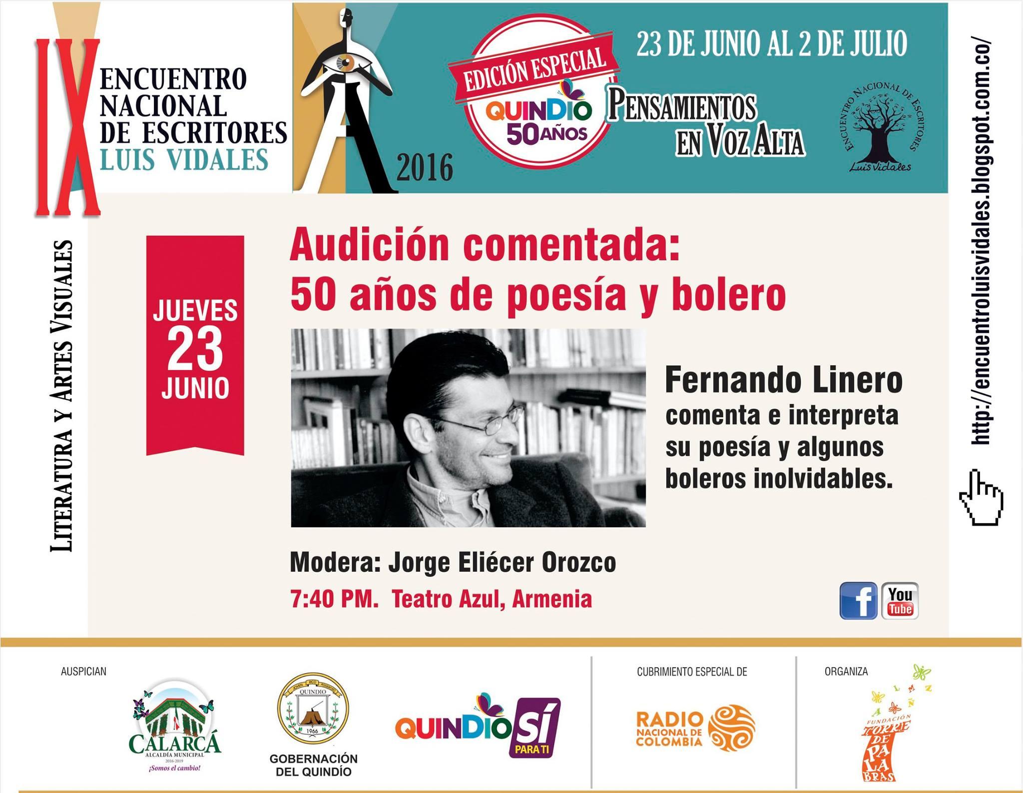 Fernando Linero Encuentro Luis Vidales