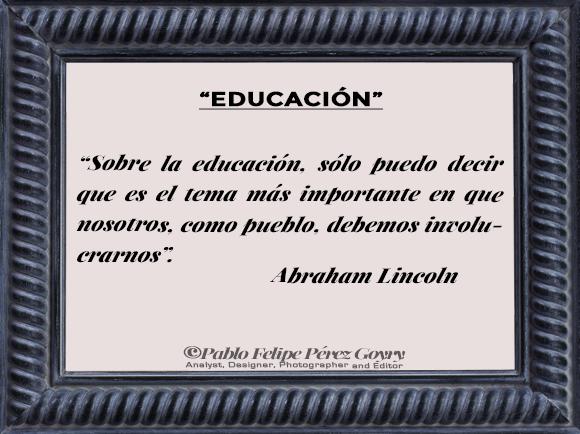Reflexión 148_Educación_Abraham Lincoln