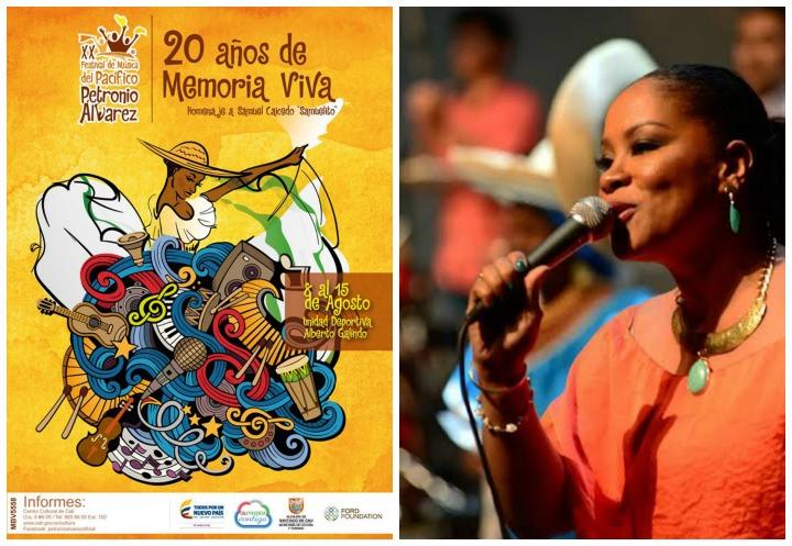 Collage Yamileth Cortés y afiche Petronio 20 b