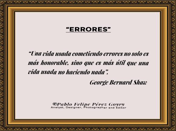 Reflexión 158_Errores_George Bernard Shaw