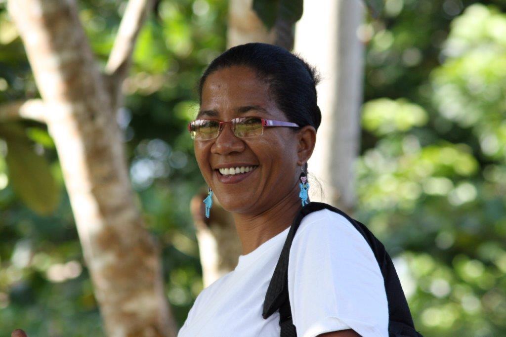 Everildys Córdoba en los bosques del Chocó, Darién. Foto: Cortesía de Brodie Ferguson.
