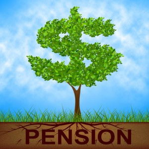 Pension Tree Indicates Finish Work And Banking