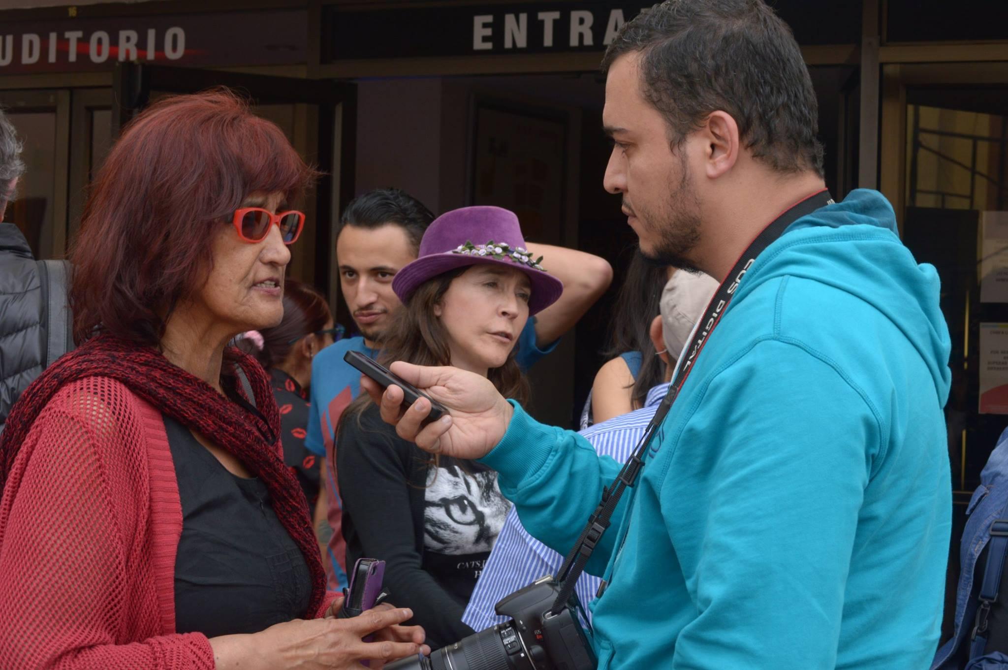 Con Patricia Ariza, directora de la obra