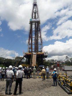 Campo Tiputini, inaugurado oficialmente este miércoles 7 de septiembre. Foto de la cuenta oficial de Twitter del Ministerio de Hidrocarburos de Ecuador