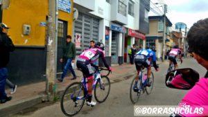 Foto tomada durante la etapa final de la pasada Vuelta a Colombia, un trabajo en equipo a cargo de Luis Fernando Saldarriaga.