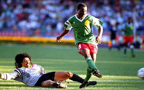 Camerún  - Colombia, mundial de Italia 90