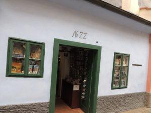 Casa de Franz Kafka en Praga.