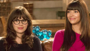 """NEW GIRL: Zooey Deschanel and Hannah Simone star in the """"Virgins"""" season finale episode of NEW GIRL airing Tuesday, April 30, 2013 (9:00-9:30 PM ET/PT) on FOX. (Photo by FOX via Getty Images)"""