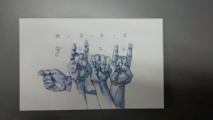 Gunu / Mano/ lenguaje de señas. Mario León