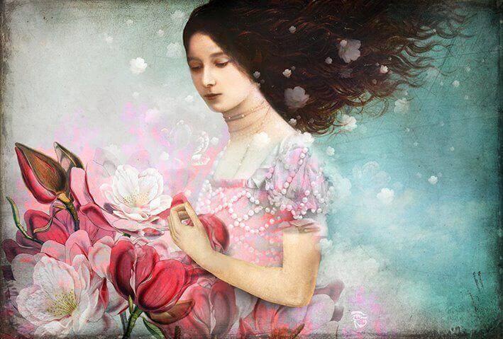 mujer-recogiendo-flores-rosas