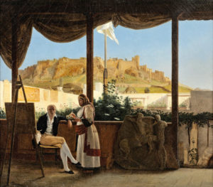 the-consul-louis-fauvel-painting-the-acropolis-at-the-background-louis-dupre