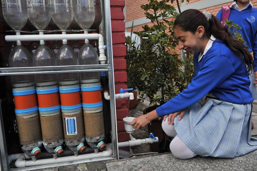 Bogota(Colombia) 29/01/2015 . - Ekomuros en el colegio distrital Luis Vargas Tejada. Foto Oscar Perez