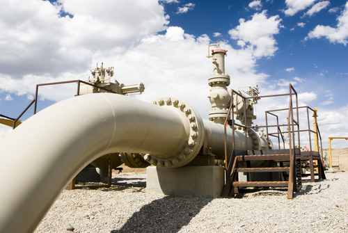 Gas pipeline in Wyoming