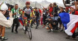 Atapuma como punta de carrera durante la etapa 18.